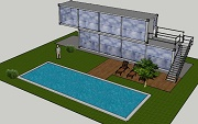 Strutture container strutture zincate frame container for Container piscina