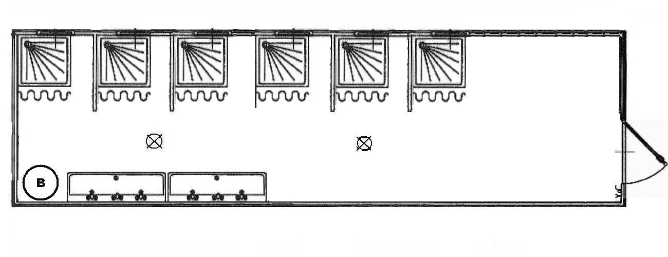 Préférence Monoblocchi container box Sanitari Prefabbricati WC Doccia bagni  DW43
