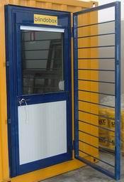 Monoblocchi prefabbricati abitativi baracche cantiere uffici dormitori - Porta finestra blindata ...
